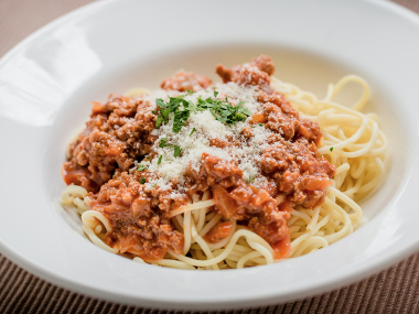 Spaghetti bolognese at the Cellar Bar, $18