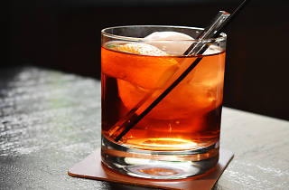 The Library Bar is located in the fancy Rittenhouse Hotel.