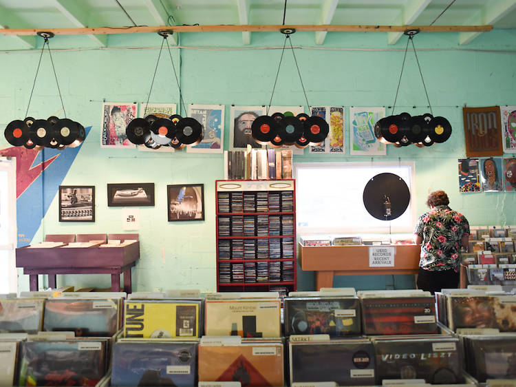 Go crate diving at Sweat Records