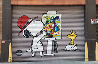 Check out these Peanuts-inspired art murals on view in Lower Manhattan