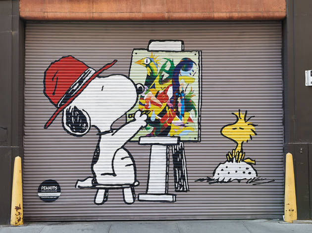 79883e4966ae9d Check out these Peanuts-inspired art murals on view in Lower Manhattan