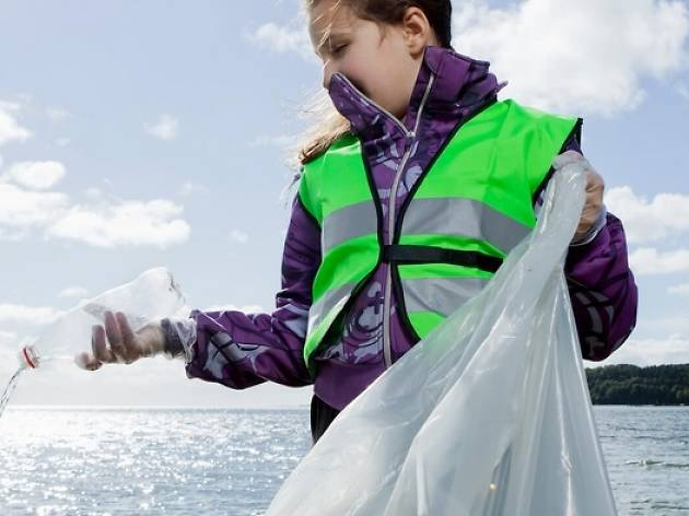Earth Day plastic fishing event
