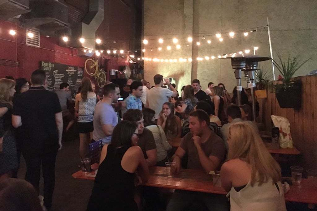 Drury Beer Garden is an outdoor drinking area behind Mediterranean restaurant Opa