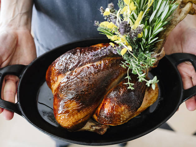 The roast chicken for two at NoMad