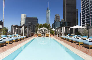 The rooftop of the NoMad Los Angeles