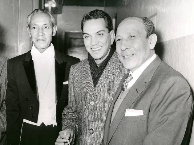 Cantinflas junto a los hermanos Atayde