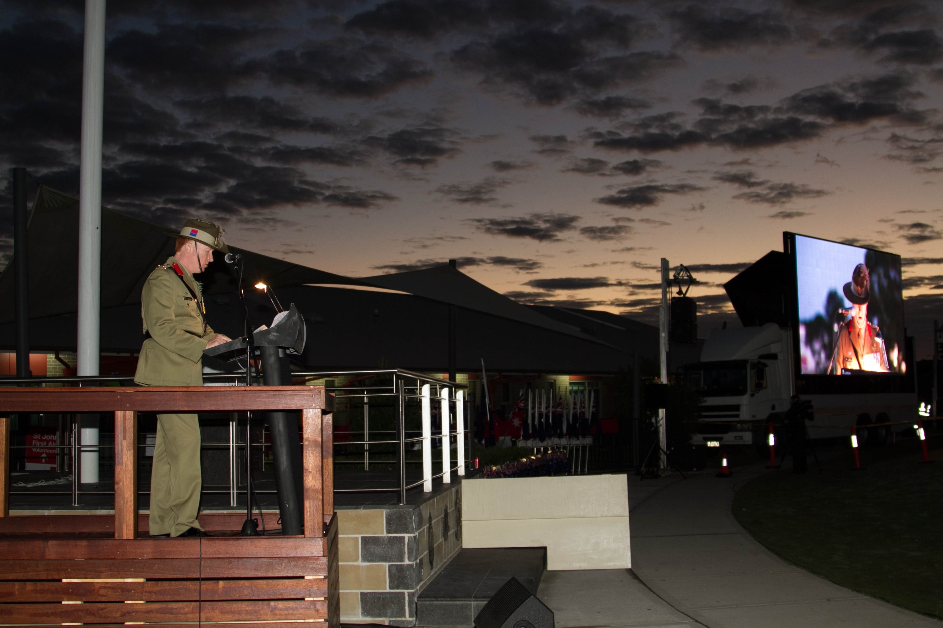 ANZAC Day Dawn Service at Castle Hill