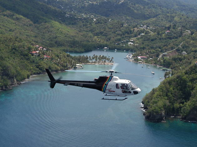 St Lucia TTD helicopter ride
