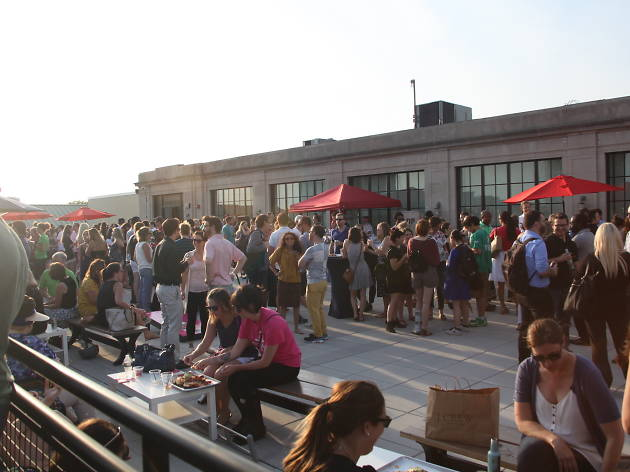 The Free Library of Philadelphia hosts a spring and summer beer garden series on its rooftop.