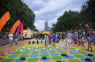 The Oval is a pop-up event space on the Benjamin Franklin Parkway.