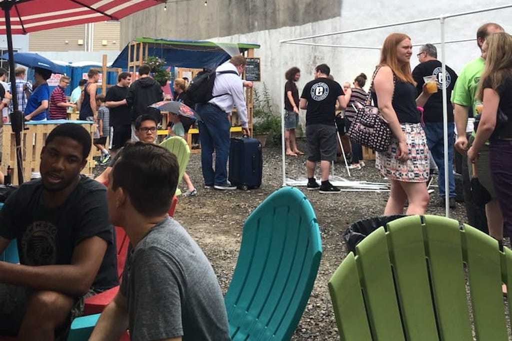 Evil Genius Beer Company recently expanded to include a beer garden.