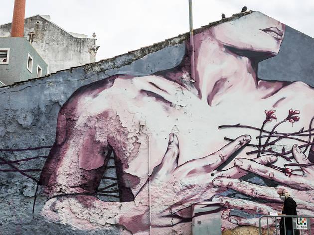 Diz que é uma espécie de roteiro de arte urbana em Lisboa