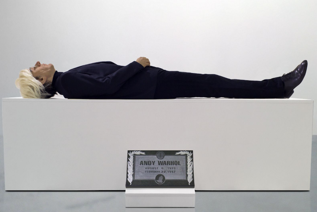 Check out this creepy sculpture of Andy Warhol's corpse in Chelsea