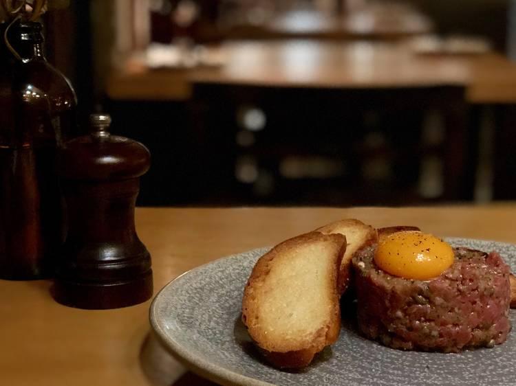 Steak tartare at Five Bar, $20