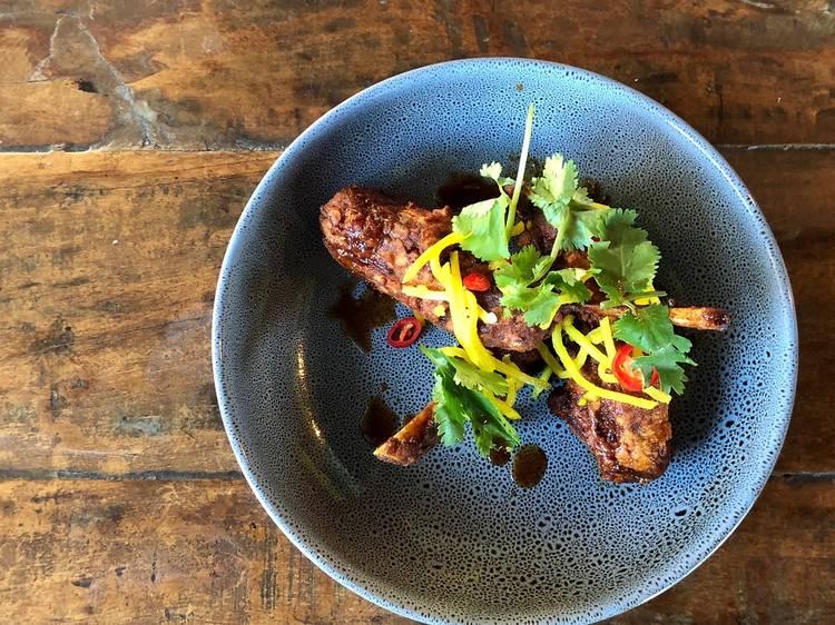 Lamb ribs at Sauma, $16