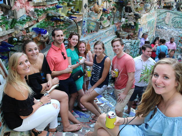 Garden Sips is a monthly happy hour at Philadelphia's Magic Gardens throughout summer