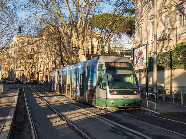 A tram in Rome