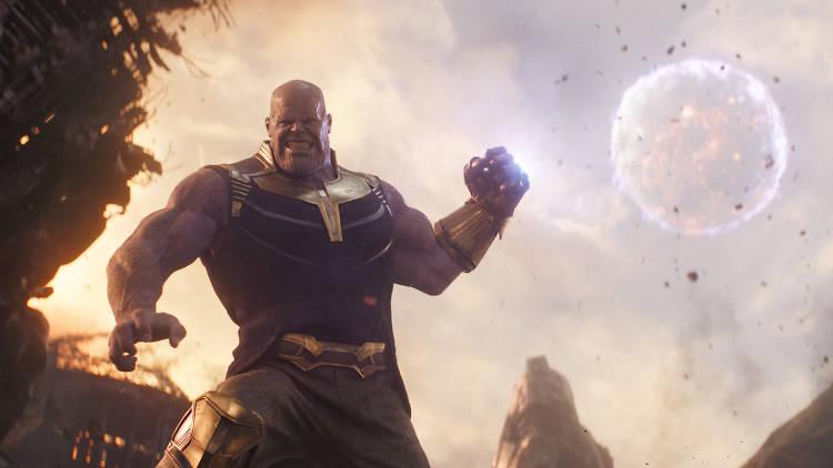 The bling ringmaster: Thanos (Josh Brolin) is on nemesis duties