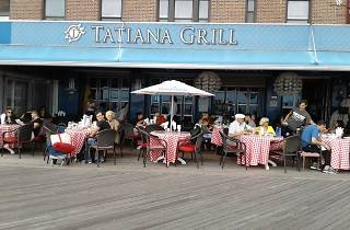 Boardwalk seating at Tatiana Grill