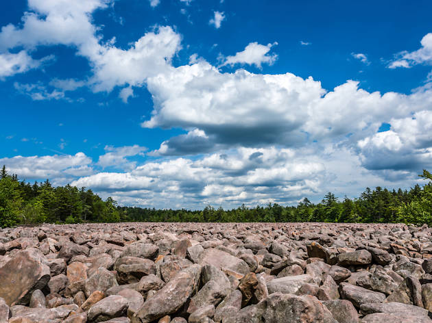 The Boulder Field at Hickory Run State Park is a great option for hiking near Philadelphia.