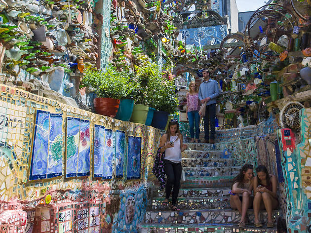 Philadelphia's Magic Gardens is a mosaic wonderland on South Street.