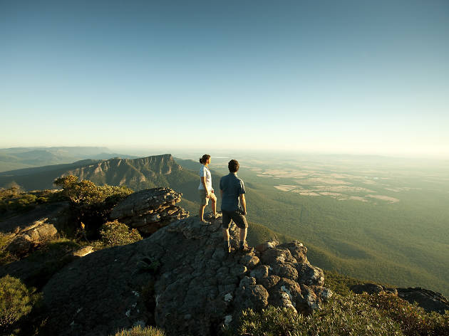Couple standing on top of Mount William