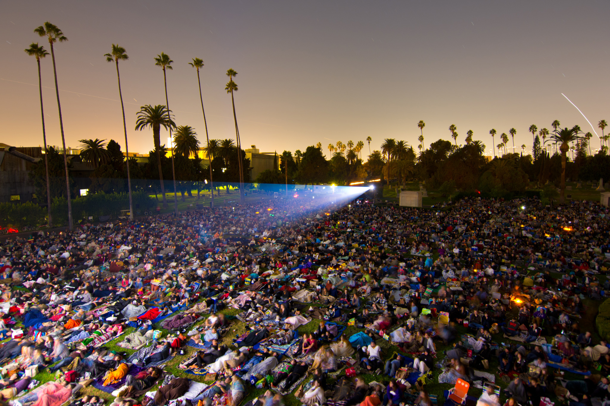 Outdoor movie season