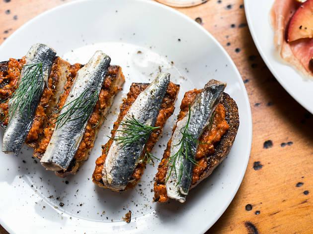 Pickled sardines on toast at Love Tilly Devine