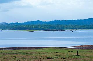 Enjoy pleasant views of the reservoir