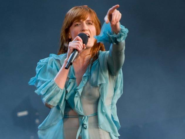 Florence Welch of Florence + The Machine performing at the British Summer Time festival at Hyde Park in London.