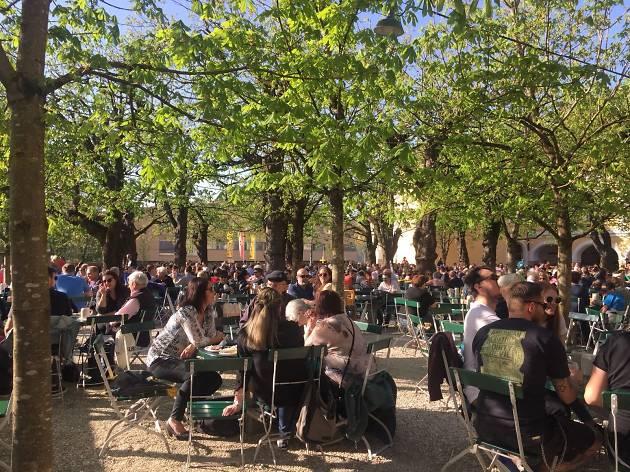 Augustiner Bräustübl  beer garden, Salzburg - for use in Salzburg BA campaign