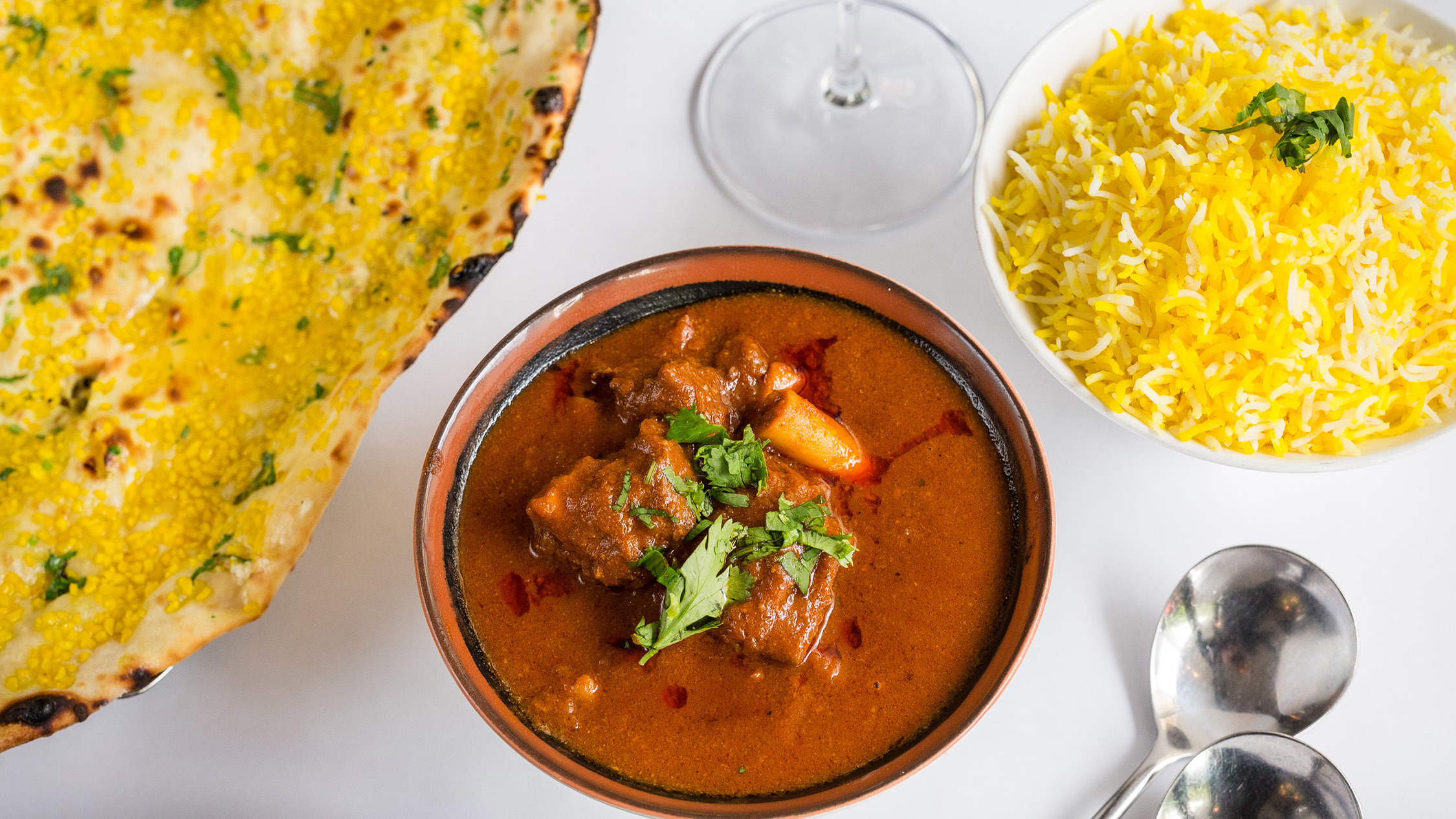Goat curry at Indian Mehfil CBD, $22.99