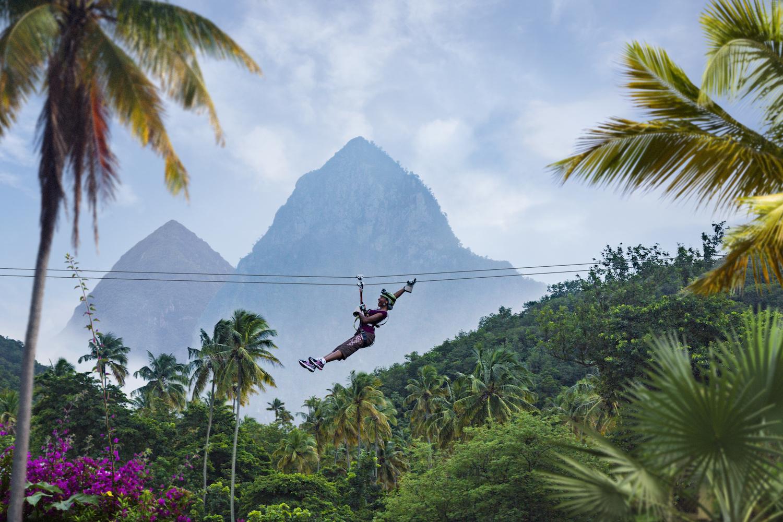 St Lucia TTD Morne Coubaril zipline