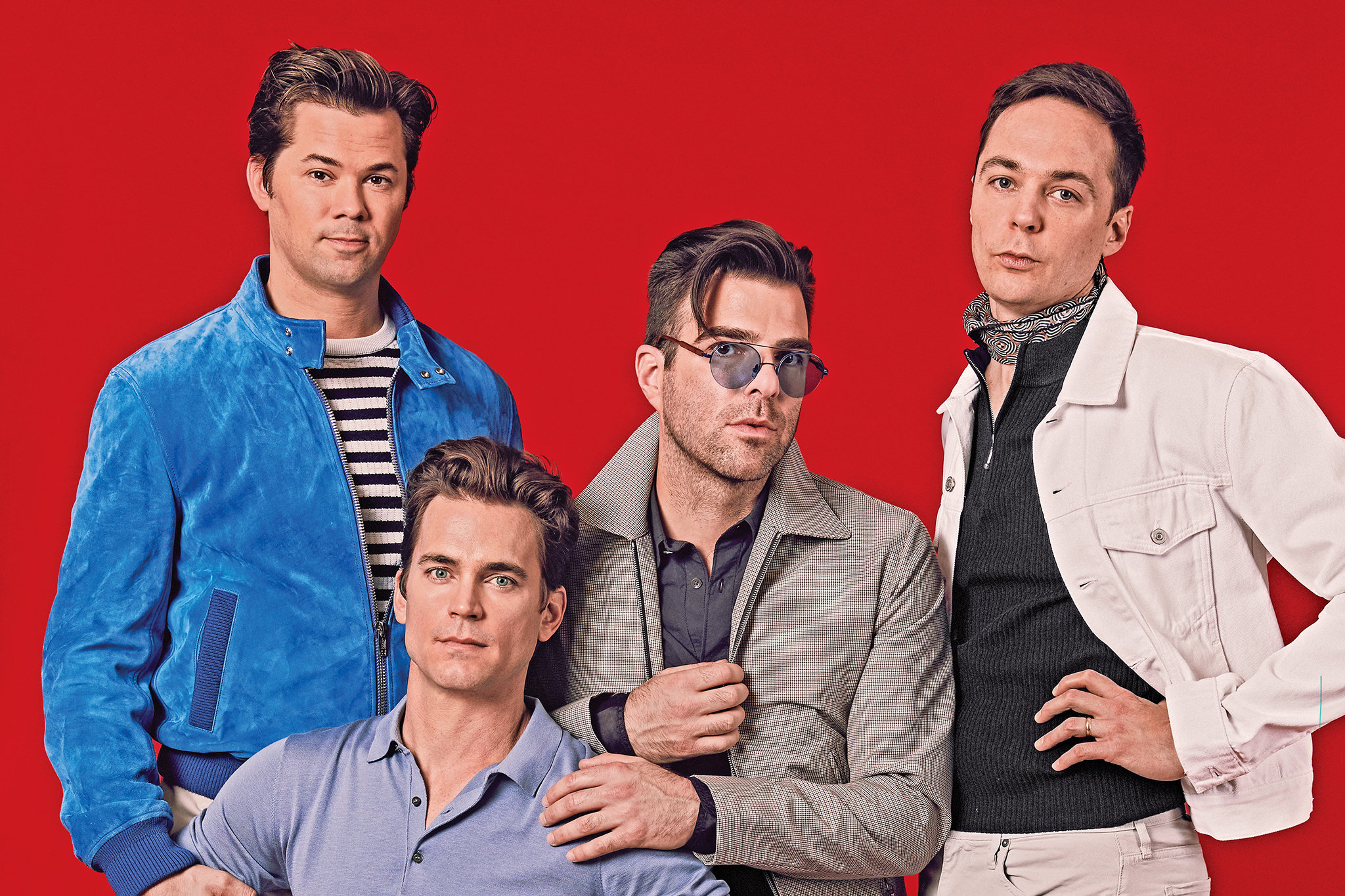 Jim Parsons, Zachary Quinto, Andrew Rannells and Matt Bomer hit Broadway