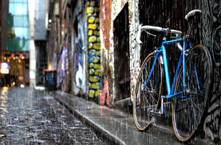 Generic Hosier Lane raining