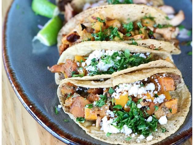 Rajas tacos at Quiote