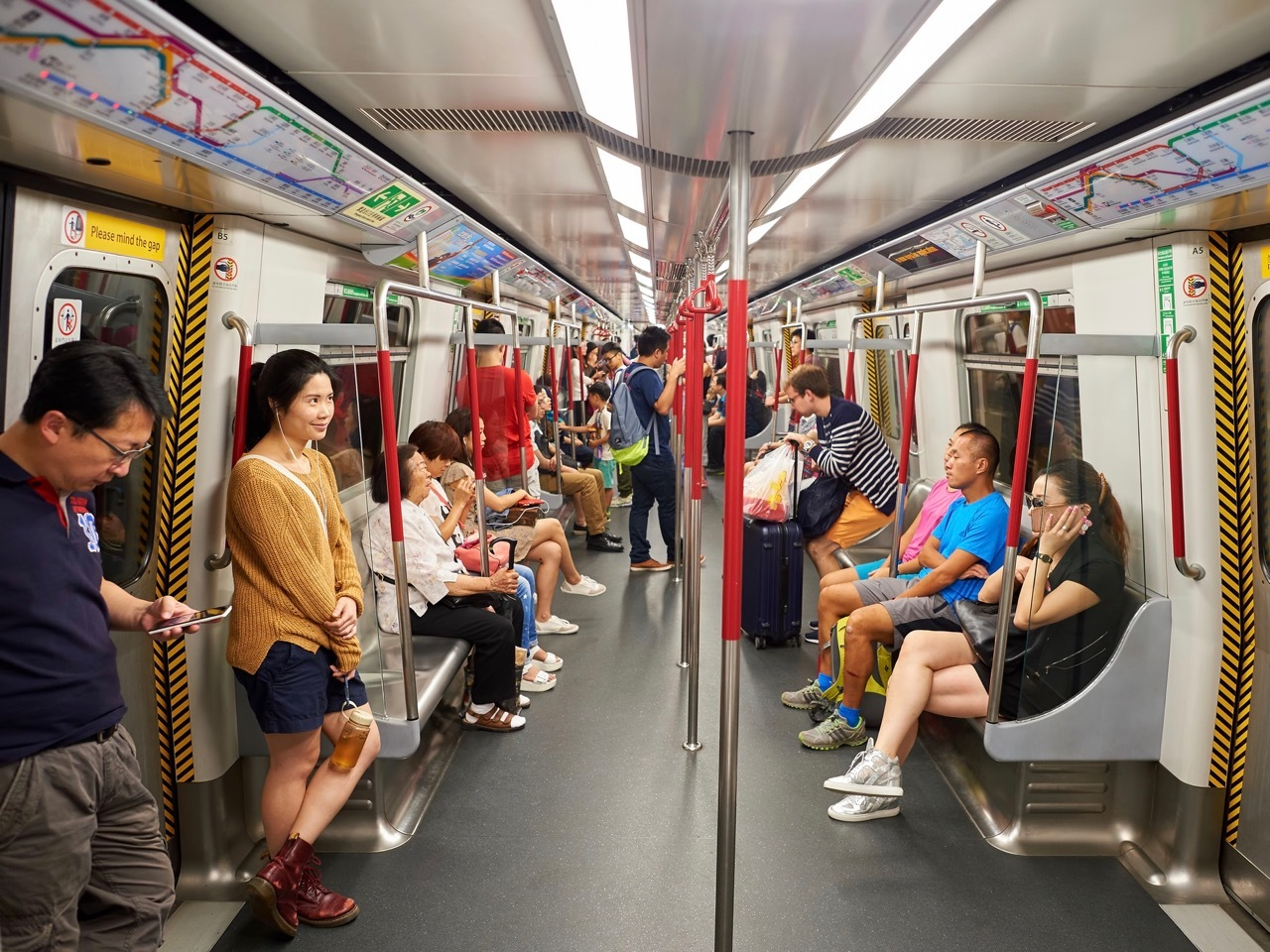MTR train interior