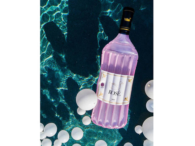 Rosé Bottle Pool Float