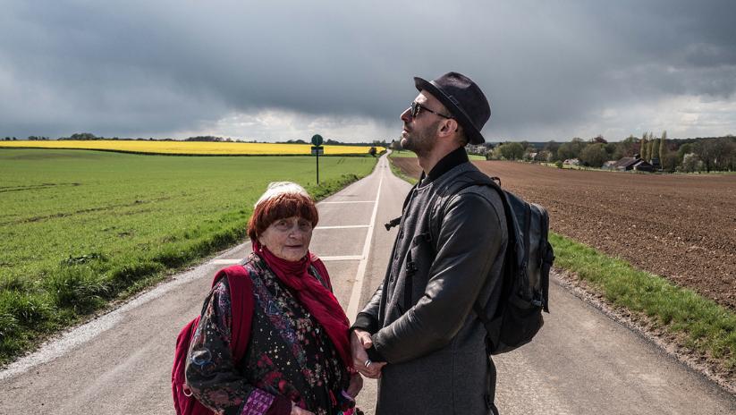 Agnès Varda i JR a la pel·lícula 'Caras y Lugares'