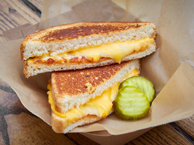 Grilled cheese is one of many foods at the Banc of California Stadium