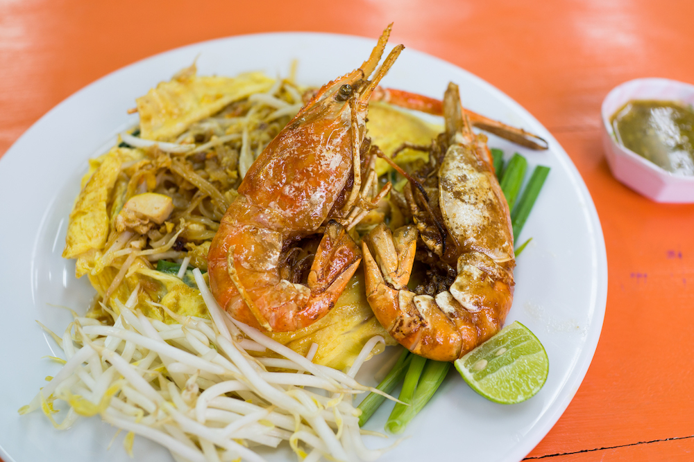 Bangkok street food pad thai