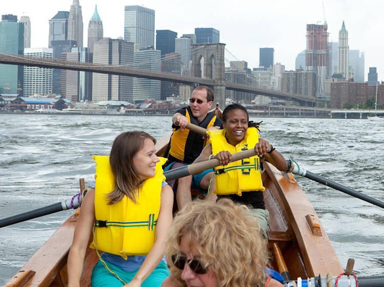 Kayaking at Brooklyn Bridge Park