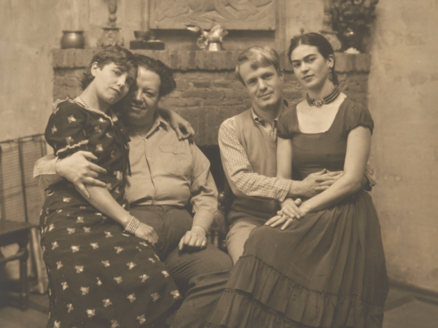 Diego Rivera and Frida Kahlo post with Lucile and Arnold Blanch at Coyoacán (1930).