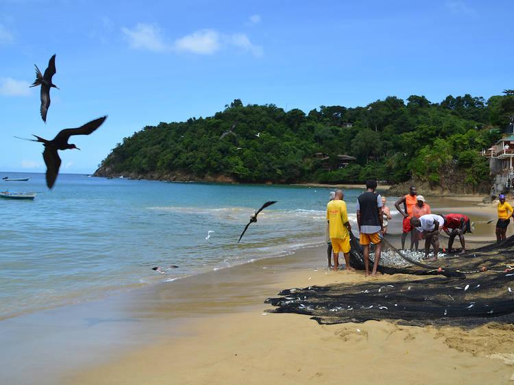 Limbo with locals in Castara