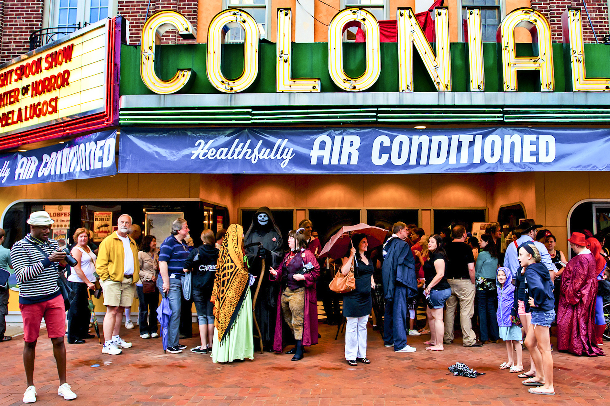The Colonial Theatre, where the Blob was filmed, holds Blobfest every summer.