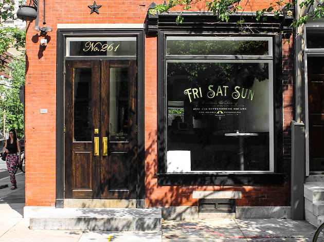 Despite its name, Rittenhouse restaurant Friday Saturday Sunday is open almost every day of the week.