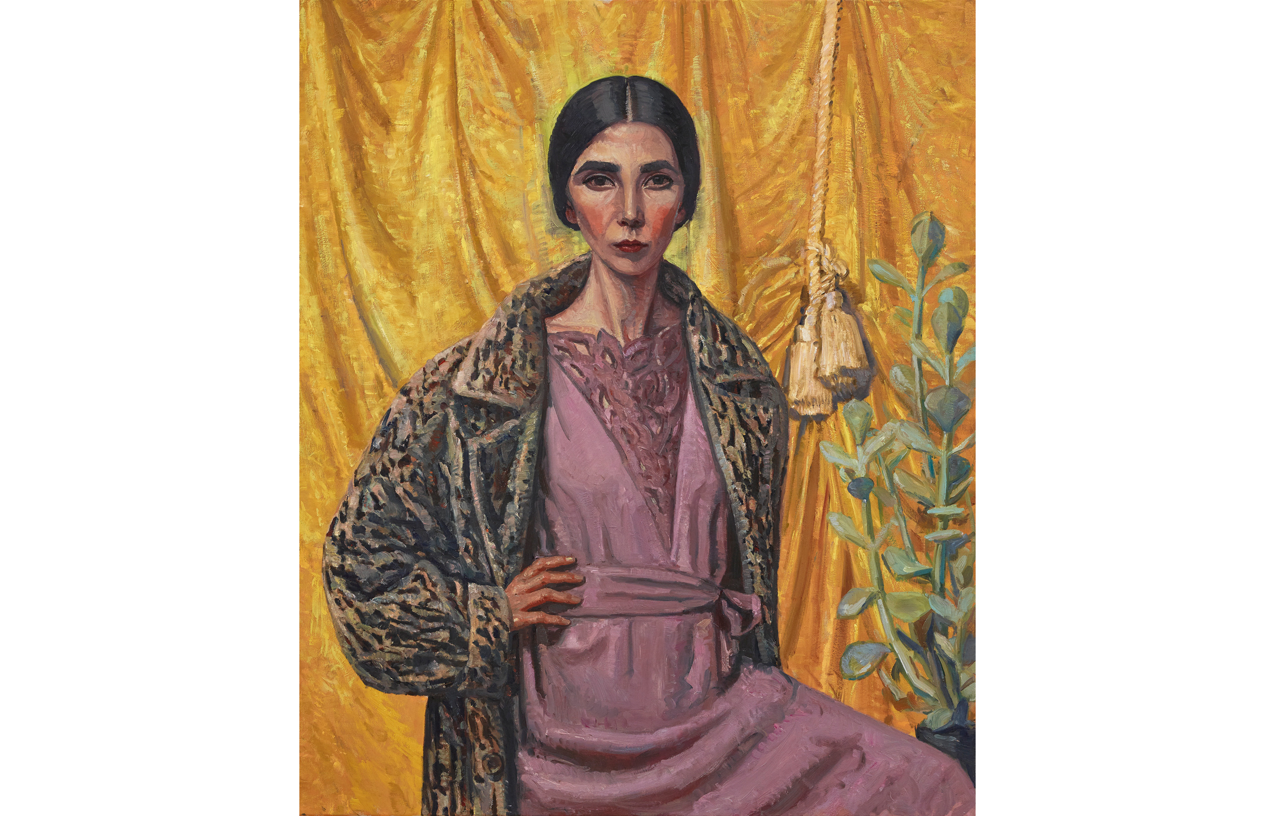 (Archibald winner: Yvette Coppersmith, 'Self-portrait, after George Lambert')
