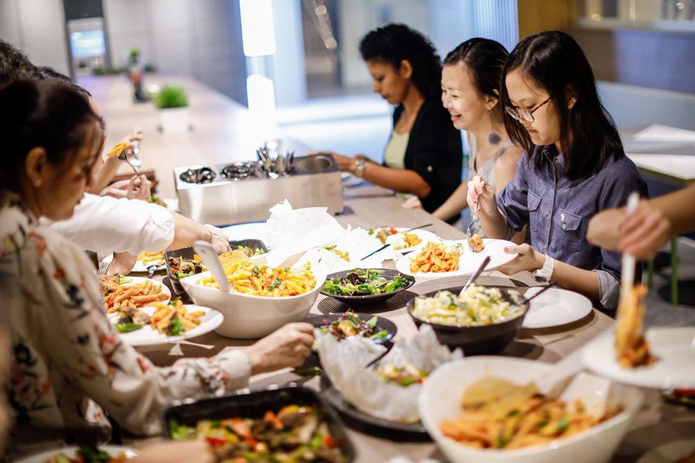 Host a dinner party together