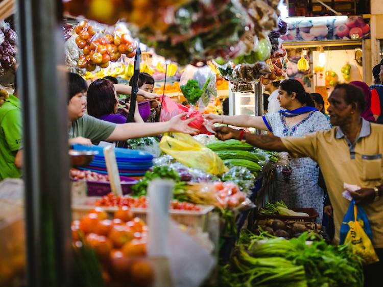 Grocery shop at Tekka Market