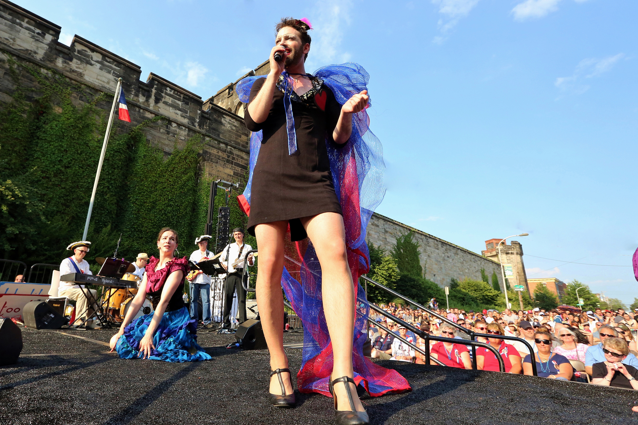 Philadelphia celebrates Bastille Day with a huge festival at Eastern State Penitentiary.